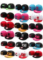 Hat adjust cap bhip ymcm hop male women's hiphop flat along the cap color block decoration hip-hop cap ny baseball cap