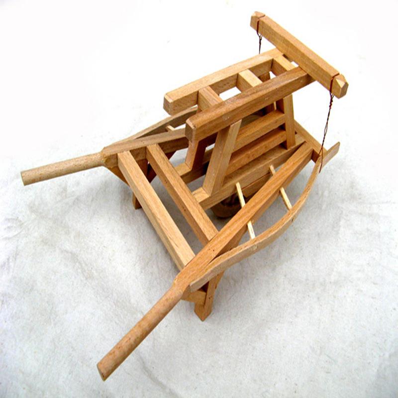 Mini Wooden Wheelbarrow