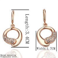 Free shipping , 18k gold plated earring , High quality!18k gold earrings,wholesale fashion jewelry earrings lkn18krgpe035