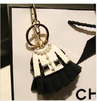 Free Shipping high quality key ring Accessories creative gift pearl women bag pendant key chain NC215