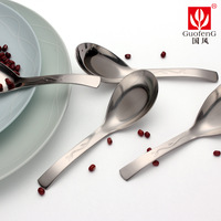 Chinese style stainless steel guofeng cochleare flat 4 spoon thickening spoon tableware food stainless steel