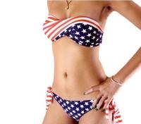 2013 Victoria's Bikini  VS  sexy  Swiming wear Flag print summer cloth Free Shipping