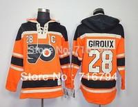 NHL Hoodie Cheap Philadelphia Flyers #28 Giroux  #16 Clarke Orange Old Time Hockey Hooded Free Shipping