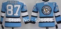 Hot!Cheap brand sport authentic hockey jerseys Pittsburgh Penguins #87 Crosby Baby Blue for Kids Youth  jersey  china,two sizes