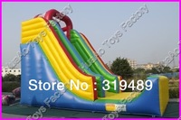 Commercial grade heavy duty PVC inflatable high slide with free carry bag+CE/UL blower+repair kit