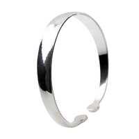 Glossy round toe bangles silver bracelet vintage brief female silver jewelry gift