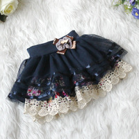 2013 summer baby lace flower tutu skirt,girls skirts, bowknot 4 colors pettiskirt.4pcs/lot,suit for 1-5years,freeshipping