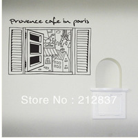 Free Shipping Vinyl Decal Provence Cafe In Paris