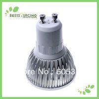 2 pcs/lot  High Power 110-240V GU10 6W Day White Light Bulbs Car Led White Light Lamp 400-430LM