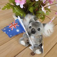 Free shipping Plush toy koala australia national flag of australia koala bear