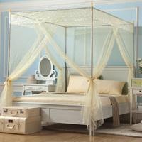 Beightening royal mosquito net princess overstretches three door stainless steel floor stand mosquito net 6