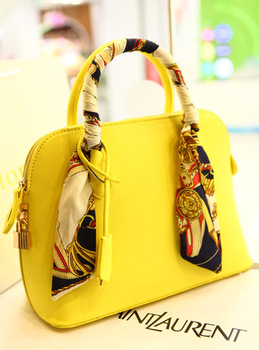 Leleshop 2013 heat shaping shell bag silk scarf handbag one shoulder cross-body women's handbag