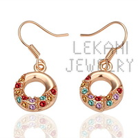 $ 10 from the wholesale donut earrings ear jewelry Korean jewelry lovely temperament rose E021