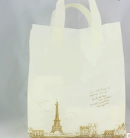 25+8*35CM,Plastic Shopping Gift Bags with handle, packaging bag,Free shipping,50pcs/lot
