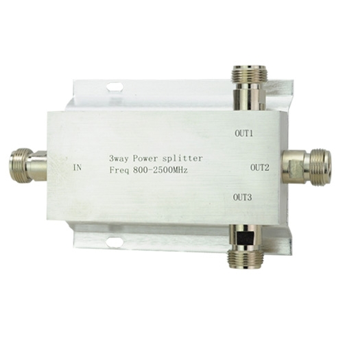Free Shipping 3 Way Power Splitter 800-2500MHz Signal Booster Divider(China (Mainland))