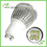 GU10 8W LED Bulb White/Warm White 4pcs/lot LED Light Bulb 85-240v  530-550 Lumens High Power Bulb Mail Free