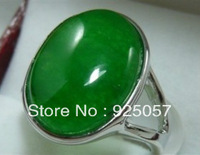 Beautiful Green jade lady's ring size 7 8 9Fashion jewelry