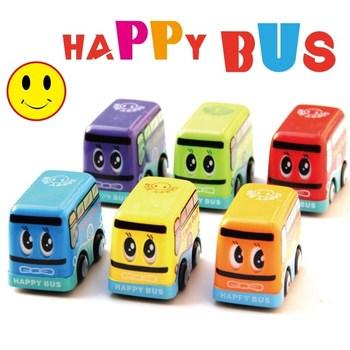 Manual cartoon smiley bus school bus bus multicolour child car toy car