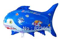 50pcs/Lots! Factory wholesale! 67cm Shark Foil Balloons,Festival Balloons,Wedding,Celebration,Party,Big Events Blue&Purple
