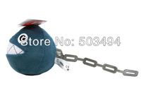 "Free Shipping EMS 200/Lot New Super Mario Bros. Plush Chain Chomp 3"" Charm Straps for Cell Phone iPod MP3 Wholesale"