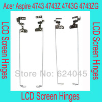 free shipping. New LCD screen hinges for Acer Aspire 4743 4743G 4743Z 4743ZG, Left and right per pair