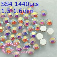 A++ clearAB non hotfix rhinestone SS4(1.4--1.6mm) 1440pcs/lot rain bow