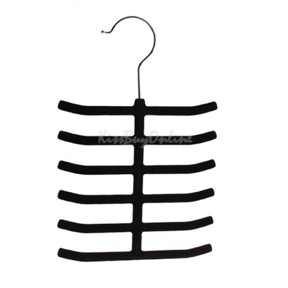 12 Tie Belt Towel Velvet Flocked Non-Slip Scarf Shawl Tie Belt Clothes Hanger K5(China (Mainland))