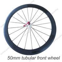 FREE SHIPPING 50mm tubular bike front wheel 700c Carbon fiber road Racing bicycle wheel,single wheel
