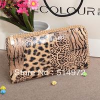 Best Selling!!2013 new fashion ladies leopard wallet women long design wallet genuine leather purse Free Shipping