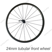 FREE SHIPPING 24mm tubular bike front wheel 700c Carbon fiber road Racing bicycle wheel,single wheel