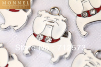 M159 Cute Bulldog Puppy Pet Charm Pendant Wholesale (10 pcs)