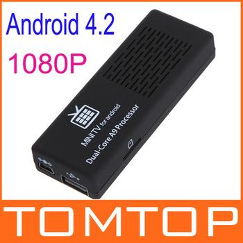 MK808B EU Plug Mini Android 4.2 Google TV Player Box Dual Core mini pc RK3066 1G/8GB Bluetooth HD1080P Wifi smart tv stick