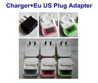 100Pcs/lot New LCD Display Universal Charger+EU/US Plug Adapter For Mobile Phone Battery Power Converter Free Shipping