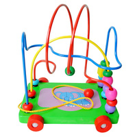 Around the bead toy trailer around the bead baby beaded Large baby puzzle toy 0-1 - 2 - 3