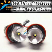 Free shipping led headlight angel eyes for BMW E39, Led marker angel eyes for BMW E66,Led auto head lamp for BMW E65,E64,E63,E87