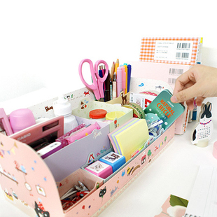 (Minimum order $5,can mix) Pink Zoo DIY Desk Organizer Collecting Box in Box Container HQS-Y35434(China (Mainland))