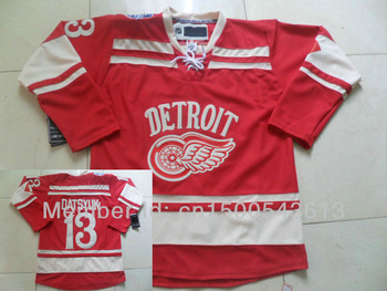 NHL Jerseys Detroit Red Wings #13 Pavel Datsyuk Red Ice Winter Classic Hockey New Season Authentic Jerseys Free Shipping