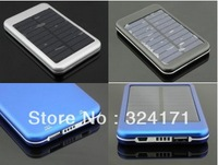 5000mAh Solar Power External Backup Battery Charger For Phones 2pcs Free Shipping
