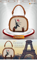 Free Shipping! Eiffel Tower Women's Ladies Girls Handbag Totes Bags Satchel Shoulder Messenger Cross Body Bag