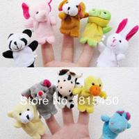 Free Shipping 10pcs/lot Cartoon Animal Finger Puppet Dolls Baby Toy Finger Plush Toy Dolls (10 Animals Group)