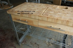 sell rubbe rwood kitchen carts(China (Mainland))