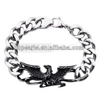 Topearl Jewelry Eagle Chain Biker Stainless Steel Bracelet MEB185