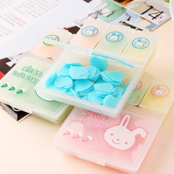 Min.order is $10 (mix order)Travel portable mini rabbit hand soap flower soap flower soap slice(China (Mainland))