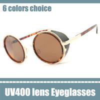 star antique style sunglasses round sun glasses gold oscar star stylish mens eyeglasses super start sunglasses UV400 brown lens
