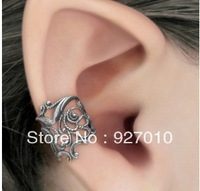 Min order is $10(mix order)Fashion U Shape Hollow Out Clip Earring Metal Alloy Flower Ear Cuff Retro PUNK No piece WOMEN