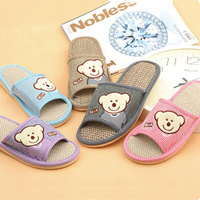 Summer male Women cow muscle outsole linen slippers at home lovers slippers indoor slippers