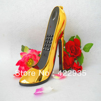 Free shipping Lady Shoes Shape Plating Home Desk Plastic Wired Telephone phone-3100
