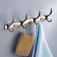 Antique bathroom stainless steel clothes hook row hook antique brass robe hook door after the coat hooks