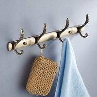 Antique bathroom stainless steel clothes hook row hook antique brass robe hook door after the coat hooks