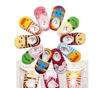Baby sweat absorbing socks infant lace floor socks child cartoon sock slippers e024